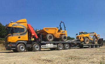 Andover Delivers Trailers for 3b Construction