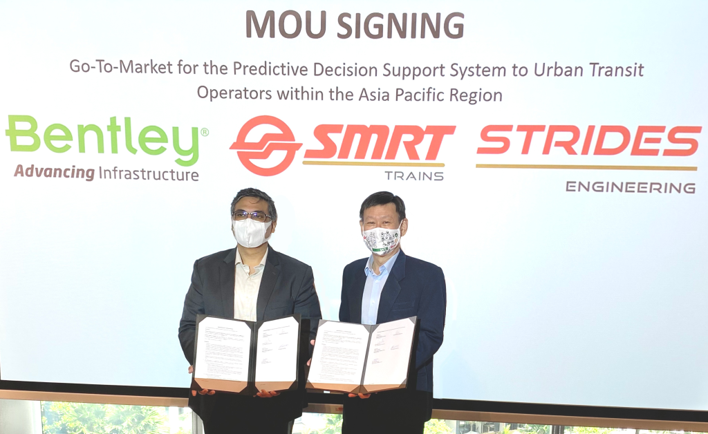 Bentley Systems and SMRT Trains Team up on Singapore Metro Rail Services