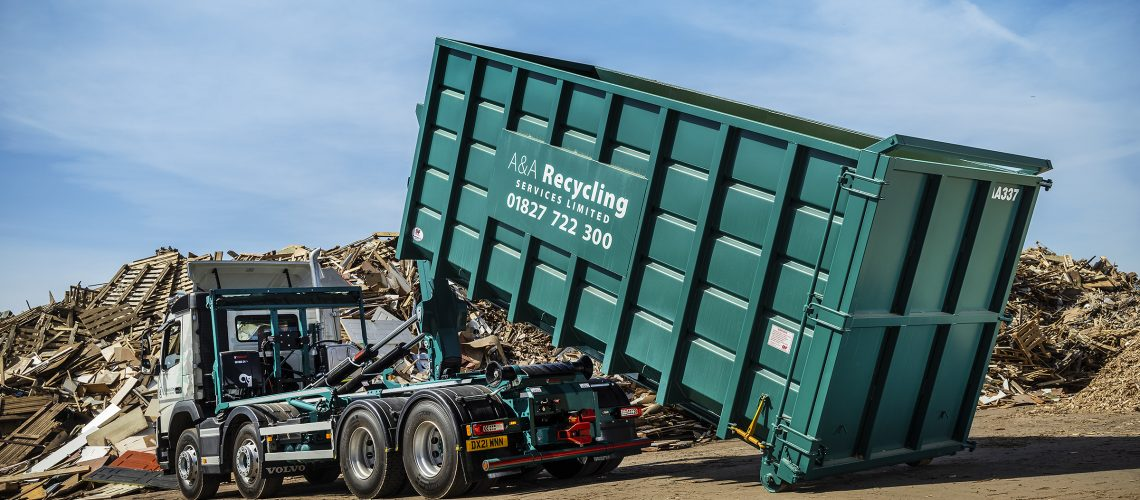 A&A Recycling Services Waste No Time Investing in Two Hiab Hookloaders