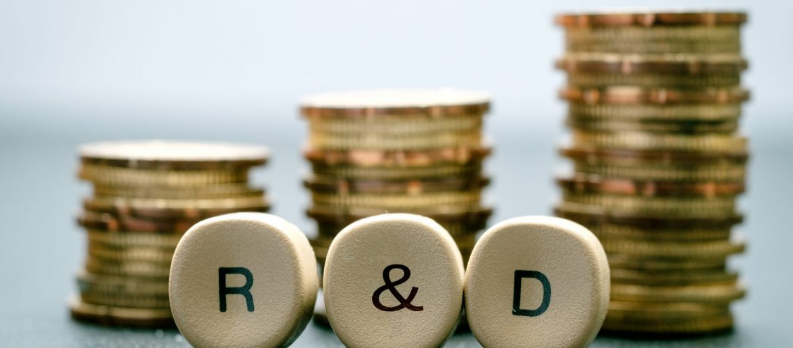 R&d,Letter,Block,And,Stack,Coins,,Business,Concept.,R&d,Stands