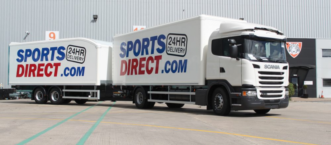 Tiger Trailers Supplies new Fleet Vehicles to Sports Direct